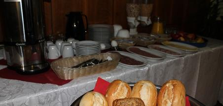 Frühstücksbuffet im Hotel Hubbert